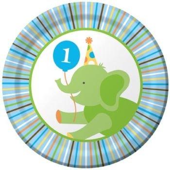 Baby Animals 1st Birthday Boy Cake Plates