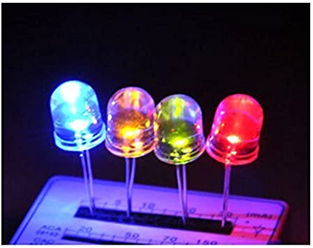 20pcs 5mm Round top Water clear Multicolor 4 pins Common Cathode RGB LED light