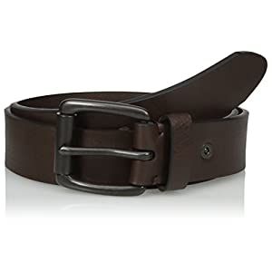 Levi's Men's 1 1/2 in. Bridle Belt with Cut Edge and Rivet Detail