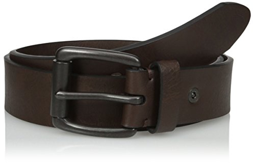 Levi's Men's 38mm Bridle Belt with Cut Edge and Rivet Detail, Brown, 42