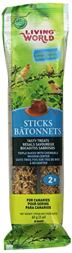 Living World Canary Honey Treat Sticks, 2-Ounce - Finch Stick