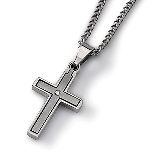 Diamond Titanium Necklace - 4