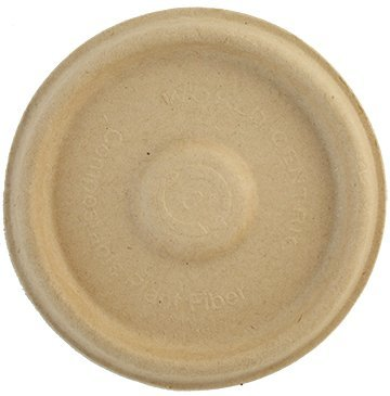 World Centric's 100% Biodegradable, 100% Compostable Bagasse/Wheat Fiber LID for 2 Ounce Bagasse Souffle Cups (Package of (Bagasse Cup)
