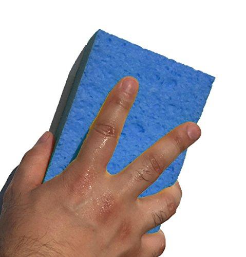 [해외]일본에서 만들어진 스크래치 방지 셀 룰 로스 세차 스폰지 정규 15.5 × 10 × 4.5 cm 2 개 세트 블루 / Japanese-made, hard-to-scratch Cellulose Car Wash Sponge Regular 15.5×10×4.5cm 2 pieces Set Blue