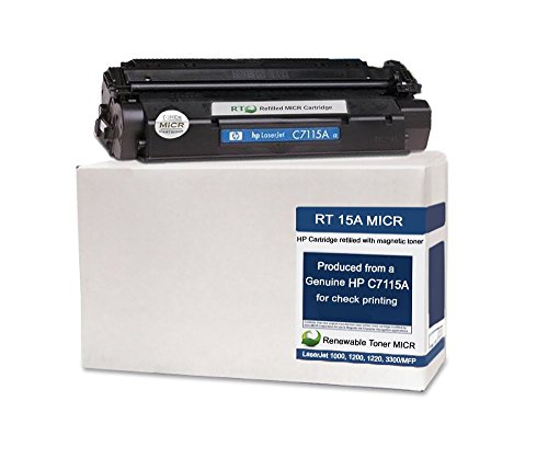 Renewable Toner Modified MICR Toner Cartridge Replacement for 15A C7115A for Check Printing on LaserJet 1000 1005w 1200 1220 3300mfp 3310 3320mfp
