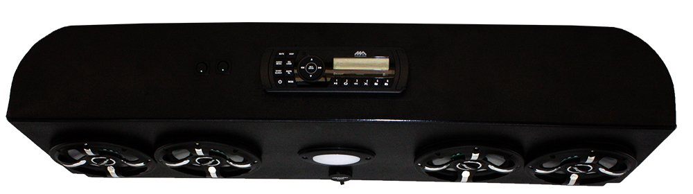 Froghead Industries EZGOER304LEDLB Four Speaker Bluetooth AM/FM Stereo System With LED Light Bar And RGB LED Speakers by Froghead Industries