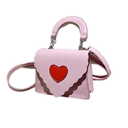 cuore forma spalla in notte maniglia tracolla pelle frizione spalla borsa a per borse a donne le pu di borsa Mo Portafoglio rosa bambola borsa wnIH0zFxxq