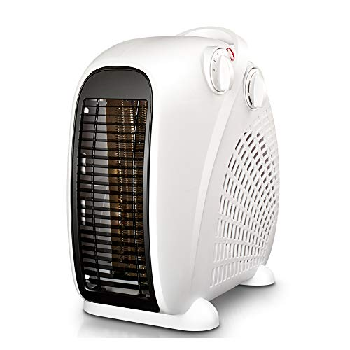 (Space Heater Fast Heating in One Second Portable 2000w Adjustable Thermostatic Control Overturning is Also Available Hot Cold Dual Use Overheat Protection Suitable for Family Bedroom Office,White)