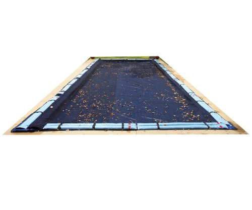 Rectangular Leaf - Blue Wave 20-ft x 40-ft Rectangular Leaf Net In Ground Pool Cover