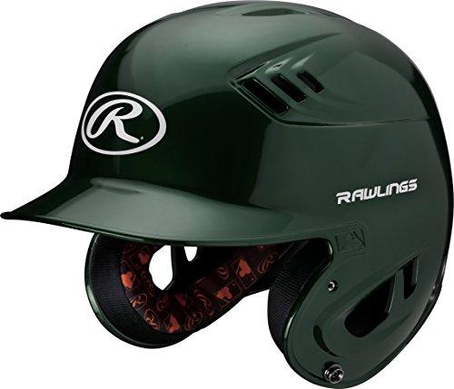 (Rawlings R16 Series Metallic Batting Helmet, Green, Senior)