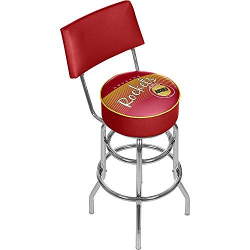 - NBA Houston Rockets Hardwood Classics Bar Stool with Back, One Size, Chrome