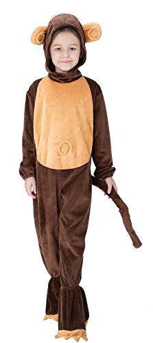 [Greencherry Unisex Baby Childen Cute Animal Monkey Cosplay Costume for Halloween Birthday Party (6T)] (Monkey Costumes Child)