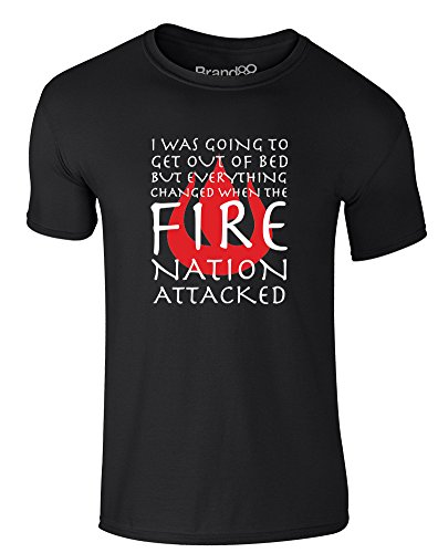 Until The Fire Nation Attacked, Adults T-Shirt - Black/White L