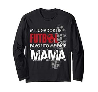 Image Unavailable. Image not available for. Color: Mi jugador Favorito de Futbol Camiseta manga larga