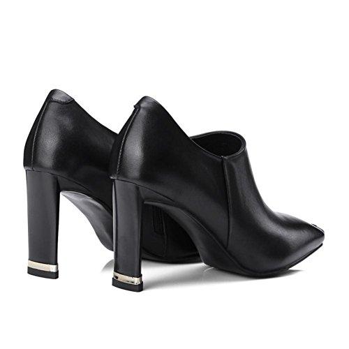 NVXIE Cheville Tribunal Noir EUR39UK665 42 Chaussures Talons Bloc Robe Mode Fête Grand BLACK 35 Taille Femmes Pompes Carré trrqSC