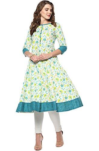 Janasya Women's Multicolor Pure Cotton Kurta