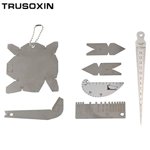 Electrode Holders   Taper Welding Gauge Weld Inspection Gage Weld Seam Bead/Fillet/Crown Test Ulnar Ruler Angle Drill Template Measure Kits   by CUSODI