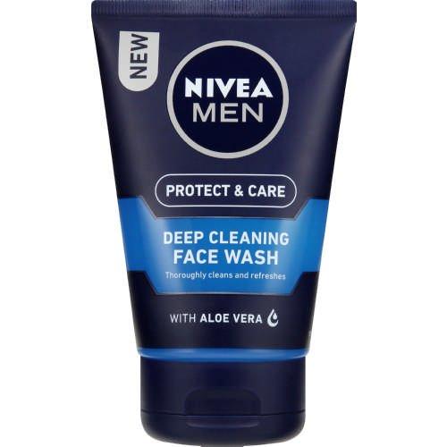 NIVEA MEN Deep Cleaning Face Wash Protect & Care, 100 ml, Pack of 3 Beiersdorf Uk Ltd 81387