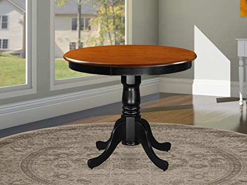 East West Furniture ANT-BLK-TP Antique Table 36