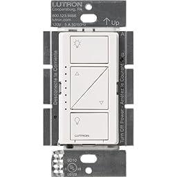 Lutron PD-6WCL-WH-R Caseta Wireless 150-Watt Multi-Location In-Wall Dimmer, White