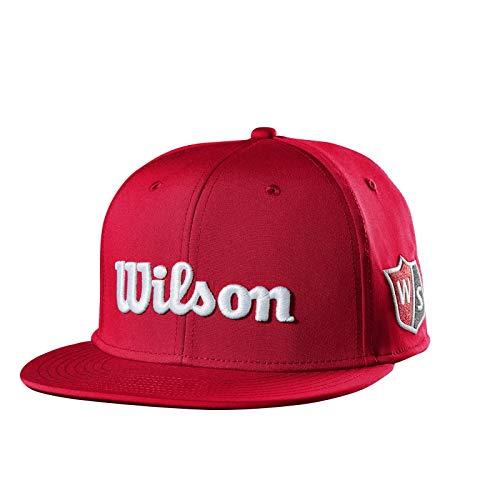 Wilson Flat Brim Golf Hat, Red