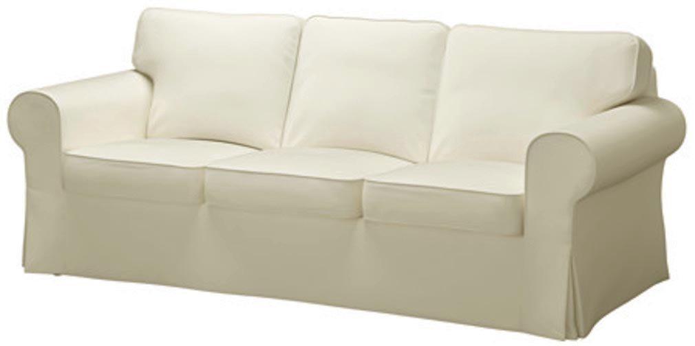 Ikea Ektorp 3 Seat Sofa Cotton Cover Replacement Is Custom Made Slipcover for IKea Ektorp Sofa Cover (White Yellow Cotton)