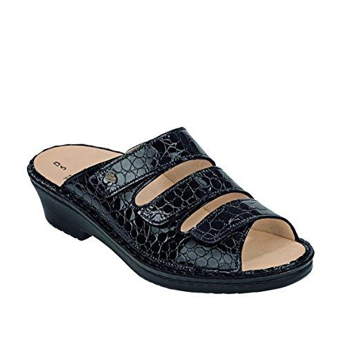 Finn Comfort Como Black Croc Velcro Sandal 7 UK by Finn Comfort