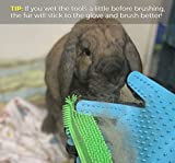 Small Animal Grooming Set - Includes Pet Hair Glove and Pet Hair Removal Brush - Reduces Shedding - Safe for Cats, Bunnies, Guinea Pigs, and Other Small Animals