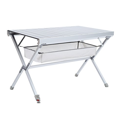 Campland Detachable and Portable Camping Folding Aluminum Table with a Storage Bag for BBQ, Party, Camping, Hiking