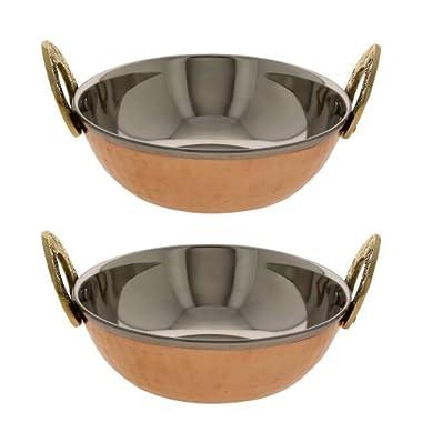 Serving Bowl Karahi Indian Food Serveware Set of 2
