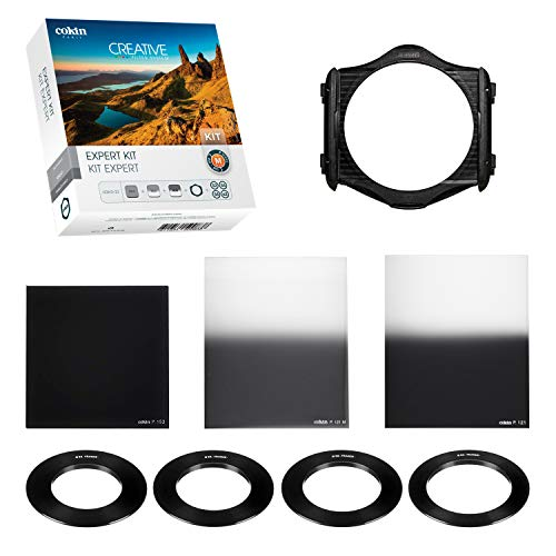 Cokin Expert ND Creative Kit - Includes M (P) Series Filter Holder, 2-Stop ND (153), Gnd 2-Stop (121M), Gnd 3-Stop Hard (121), 4 Adaptor Rings -52mm, 55mm, 58mm, 62mm (Cokin Nd Filter P)