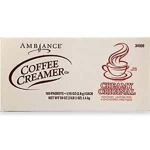 Ambiance Creamy Original Coffee Creamer - 500 Packets: Amazon.com: Grocery & Gourmet Food