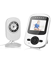 """Campark Video Baby Monitor with Camera Infant Optics Digital Cam with Infrared Night Vision 2.4"""" LCD 2.4GHz Wireless Transmission Two Way Talk Temperature Sensor VOX Auto Wake-up 4 in 1 Connection"""