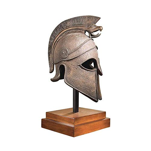 Design Toscano Macedonian Battle Helmet Museum Sculpture, bronze
