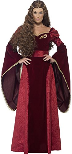 Ladies Lion Queen TV Book Film Medieval Ruler Lannister Halloween Carnival Fancy Dress Costume Outfit 8-22 (UK -