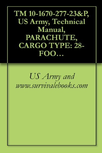 TM 10-1670-277-23&P, US Army, Technical Manual, PARACHUTE, CARGO TYPE: 28-FOOT DIAMETER, CARGO EXTRACTION PARACHUTE ASSEMBLY, NSN 1670-00-040-8135, 2002