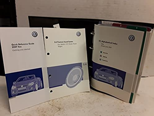 2007 volkswagen eos owners manual volkswagen amazon com books rh amazon com 2007 vw eos service manual 2007 vw eos owners manual free