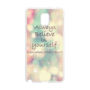 Cheap phonecase, Bible Verses Quotes Always Believe In Yourself picture for white plastic SamSung Galaxy Note4 case