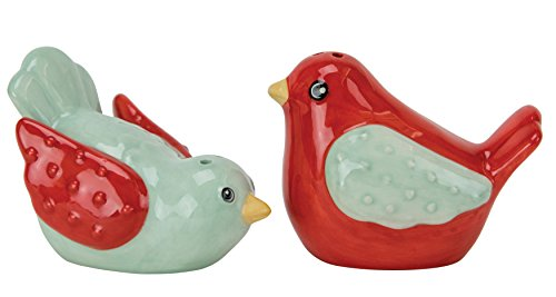 Boston Warehouse Salt & Pepper Shakers, Flea Market Bird Collection, Hand Painted (Hand Painted Salt Shaker)