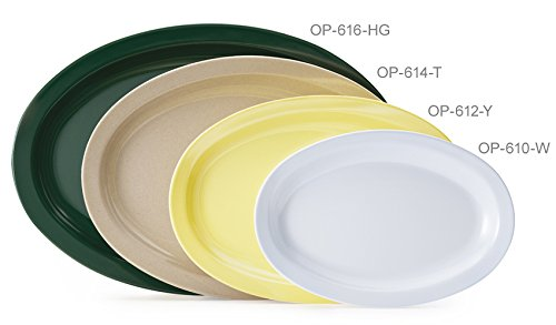 G.E.T. Enterprises OP-612-S-EC 11.75'' x 8.25'' Oval Platter, Supermel, Sandstone (Pack of 4)