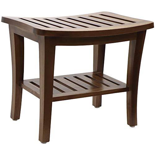 Redmon Teak Collection Bench, 20 x 13.5 x 17.5 Height