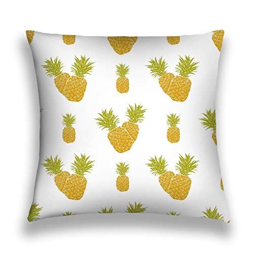 zexuandiy Throw Pillows Stylish Chic Pillowcases Zippered 18X18 Inch Fruit Background Hand Drawn Sketch Pineapple Paint -