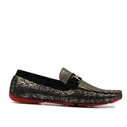 Go On Classic Loafers Brix Fashion Shoes Men's Casual On Slip Boat Gold The Style Moccasin Driving FqzqwH0