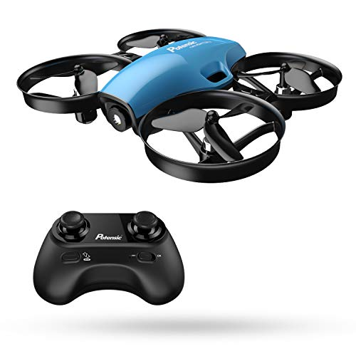Mini Drone, RC Quadcopter, Potensic A30 One Key Take-Off/Land,Emergency Stopped, Altitude Hold,Auto Hovering,Drone for Kids (Blue)