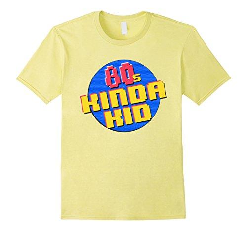 80's-90's Themed Costumes (Mens 80s Kinda Kid 80s Themed Shirt 2XL Lemon)