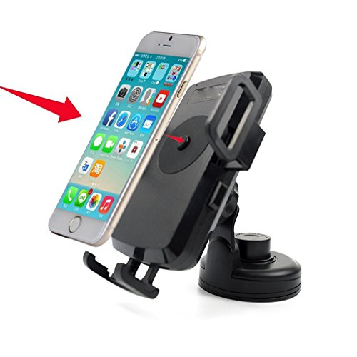 Antye Qi Standard Wireless Car Charger Charging Dock Dashboard Air Vent Mount Holder Cradle for Samsung Galaxy S7, S7 edge,S6,S6 Edge, Nexus 4/5,Nokia, HTC, and other Qi-enabled Phones, Black