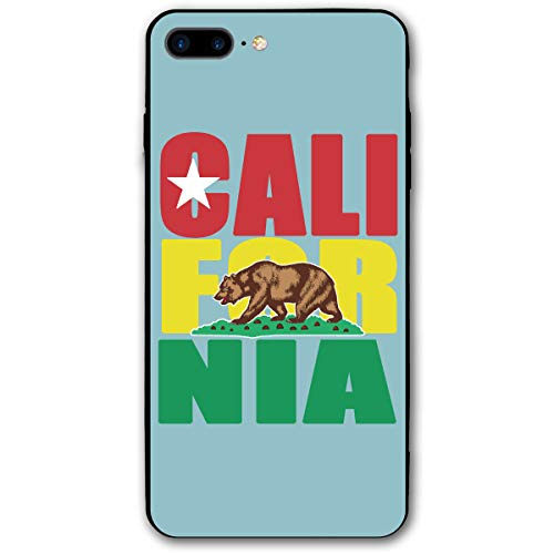 (California Republic iPhone 7/8 Plus Case Soft Flexible TPU Anti Scratch Shock-Proof Protective Shell Compatible Phone Case Cover)