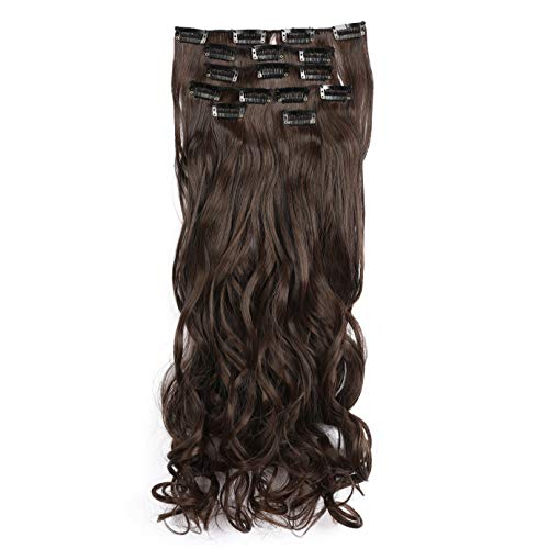 """Onedor 20"""" Curly Full Head Clip in Synthetic Hair Extensions 7pcs 140g (3H6)"""