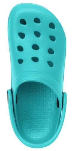 Capelli New York Ladies Solid Injected Eva Clog Turquoise 8