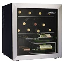 Danby 17 Bottle Wine Cooler, Black, Platinum
